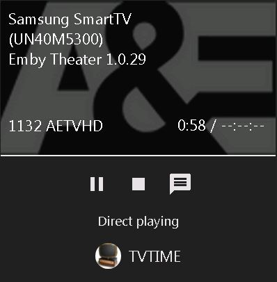Can't FFWD or RWD - Samsung Smart TV - Emby Community