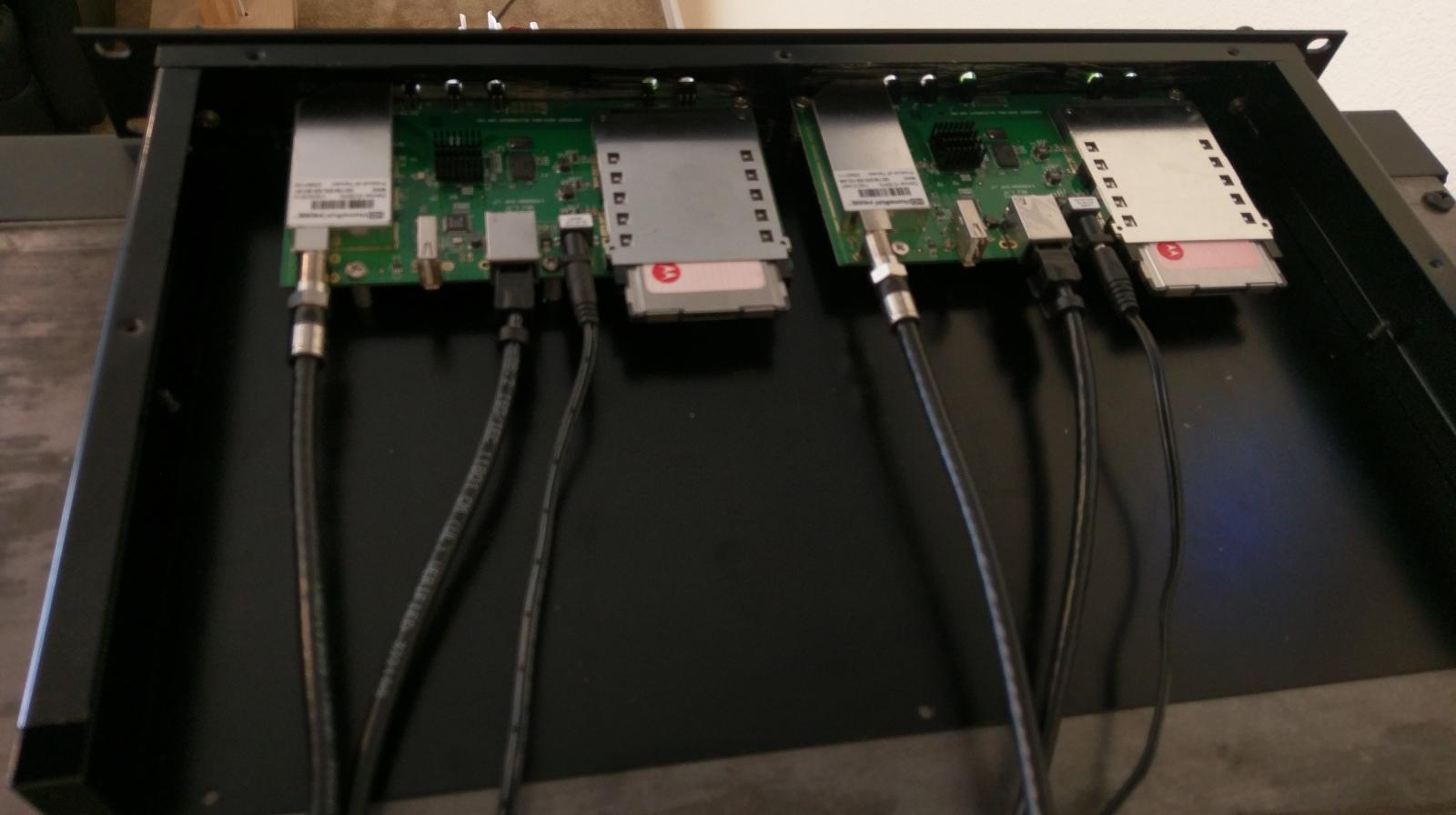 Two HDHR Primes in a 1U rack mount enclosure - Hardware