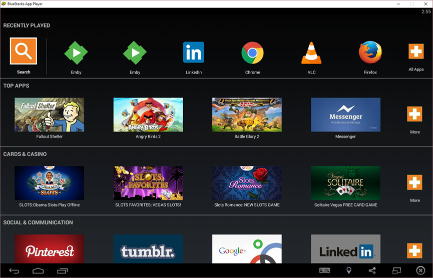 Emby for Android TV on Bluestacks - Android TV / Fire TV