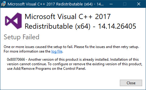 MS Visual C++ 2017 redistributable install - Emby Server