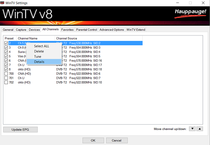 Wintv 8.5