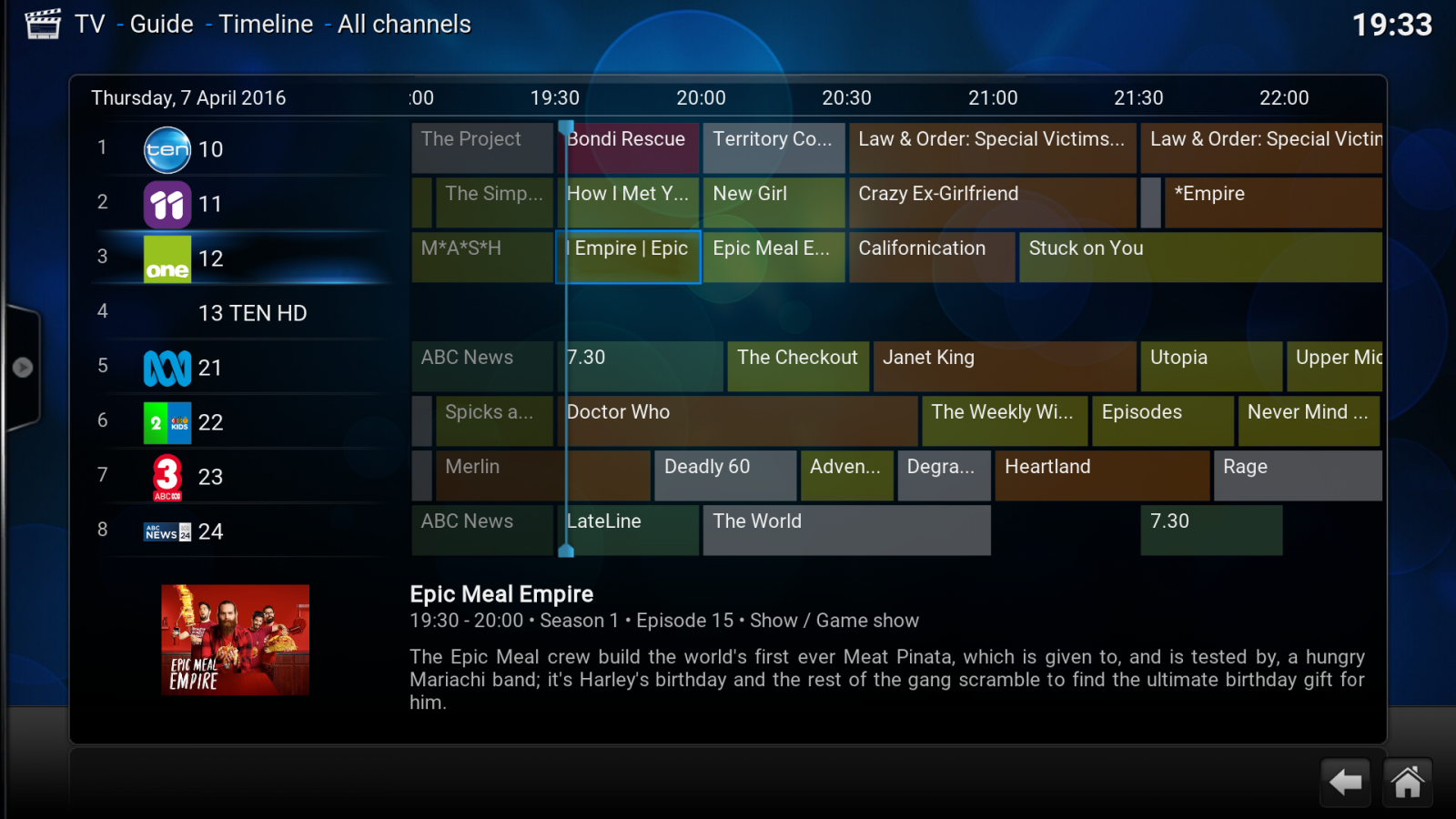 Ability to use hdhomerun tvguide data as kodi now uses it - Live TV