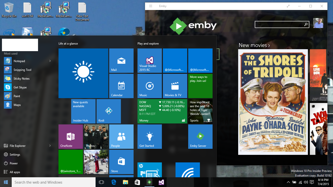 ENERGIZE YOUR MEDIA — Emby for Windows 8 1 and Windows 10