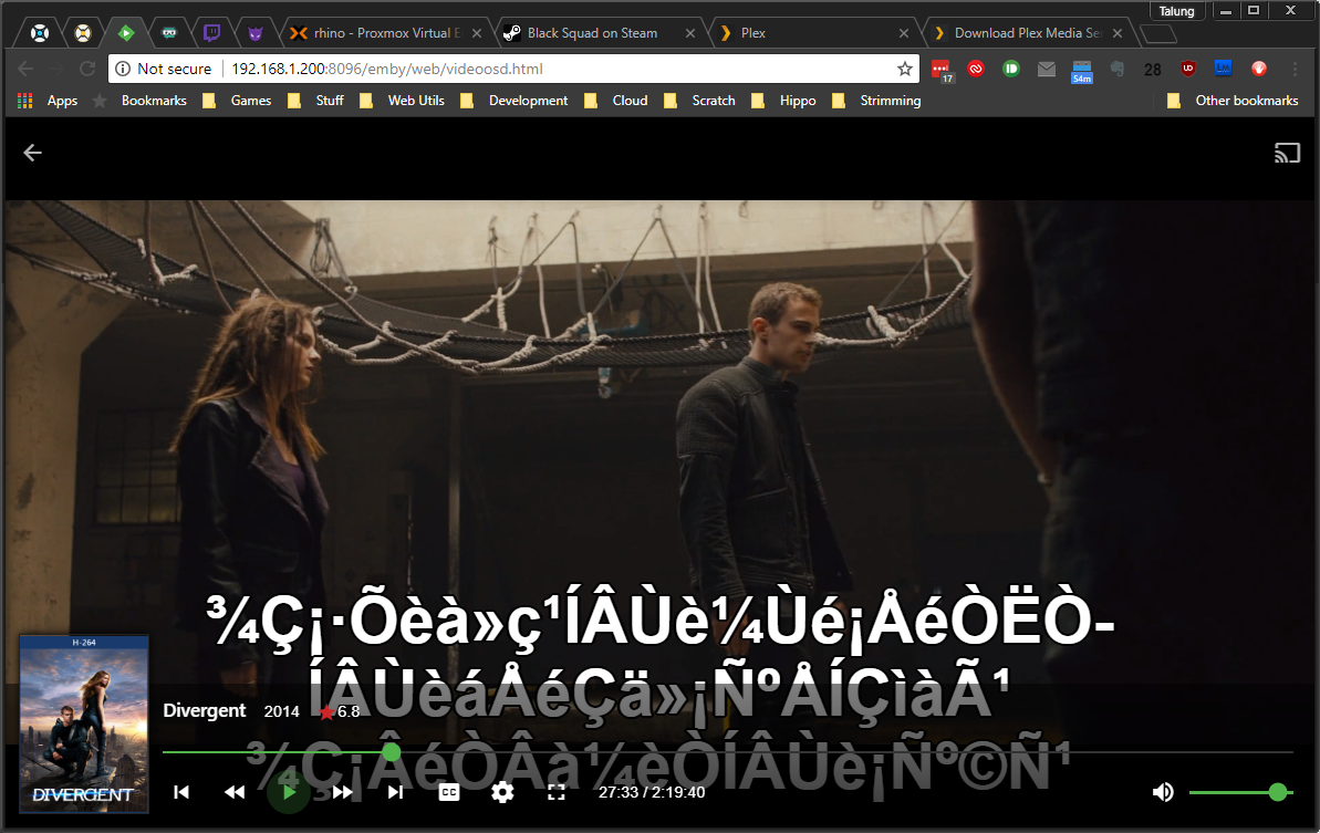 Subtitle Thai Font is not being used - Linux - Emby Community