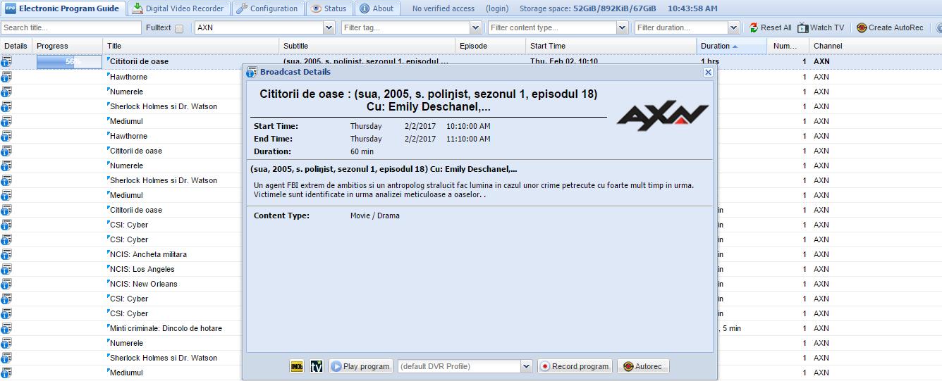 Ubuntu 16 04 + TVHeadend + Emby Server + TVHclient