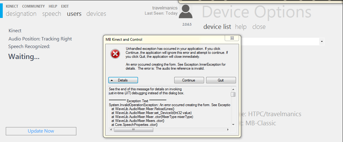 Help! - MB Kinect Crashing Immediately on Windows 8 1 - Page