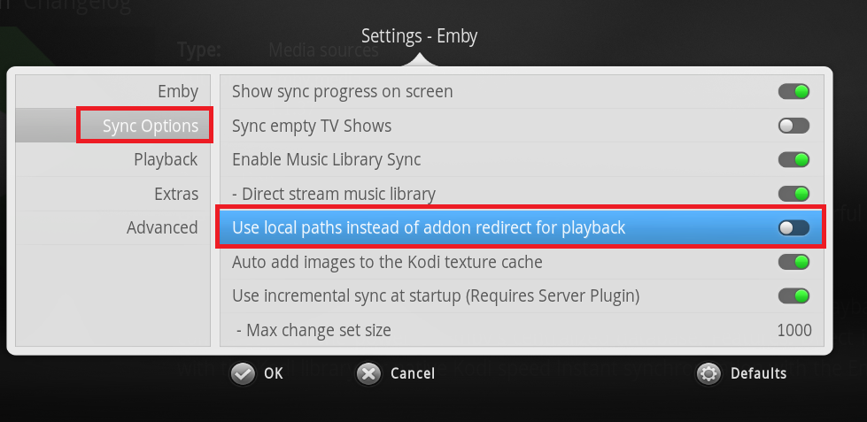 Cant Stream Locally From Yatse When Using Emby for Kodi - Kodi