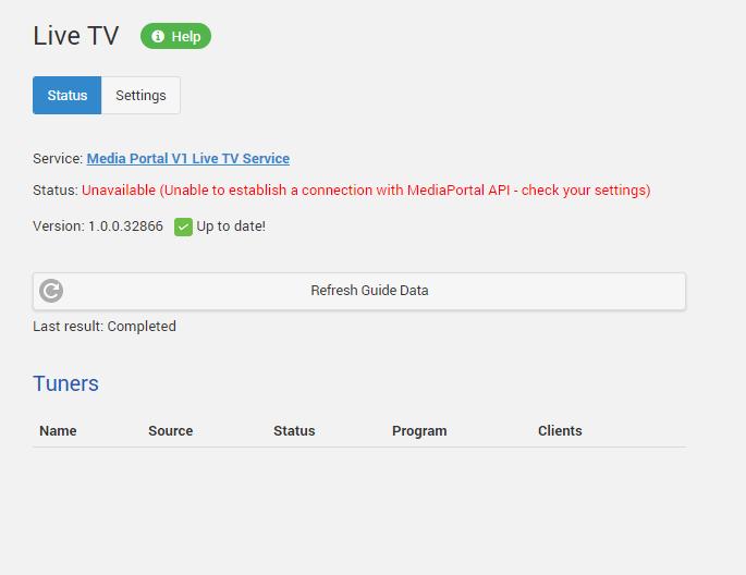 Media Portal Live TV Plugin V1 0 - Page 2 - MediaPortal - Emby Community