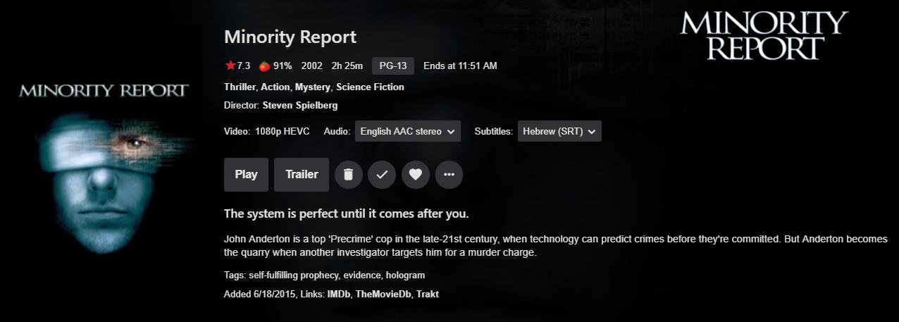 minority report subtitles
