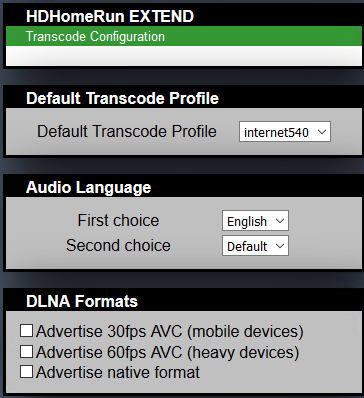 HDHomeRun EXTEND Does not change recording resolution - Live