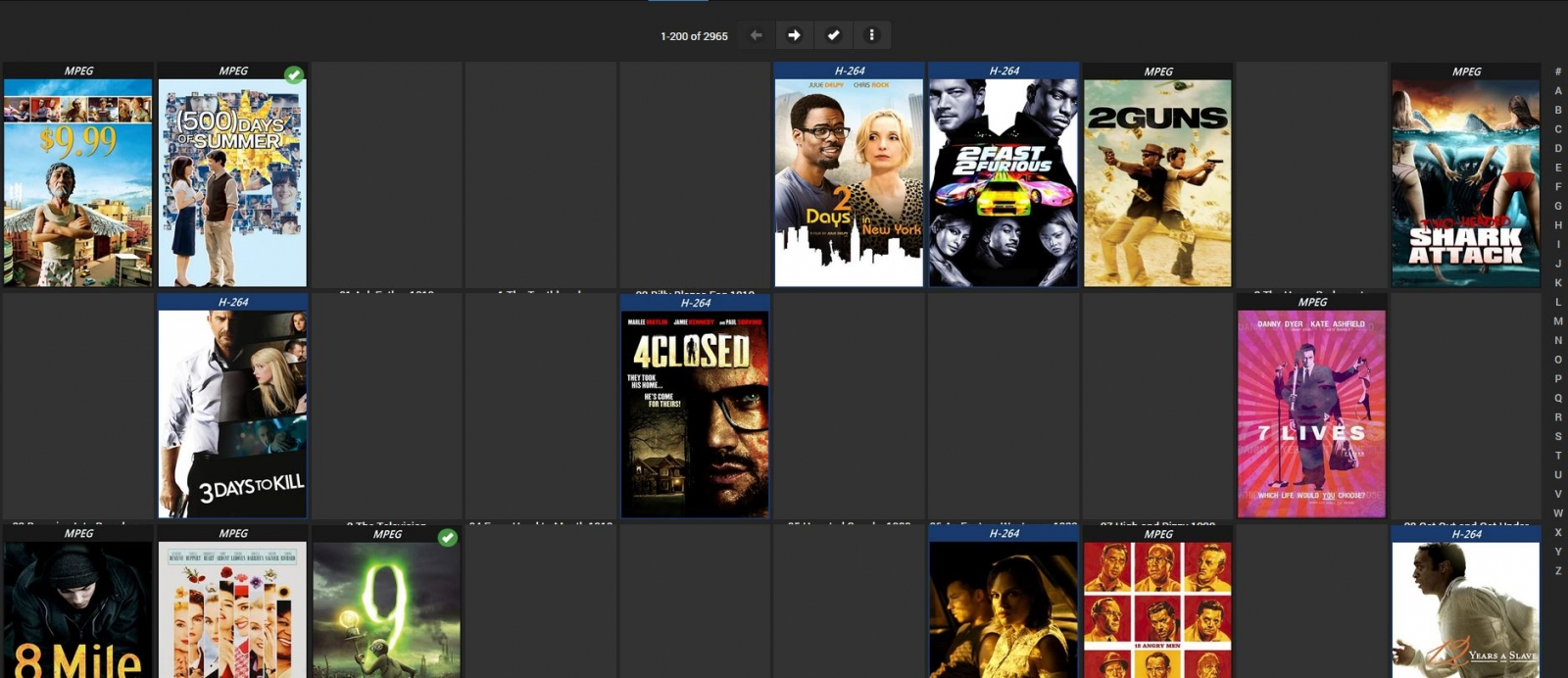 Unset (mixed content) showing in Movie library? - General/Windows