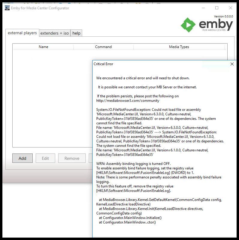 Emby Config