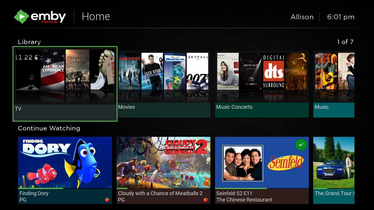 Try the new Emby for Roku Preview