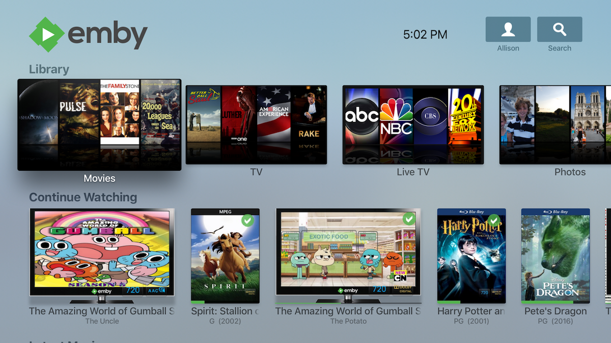 Apple TV App Now with Live TV and Improved Layout - Emby