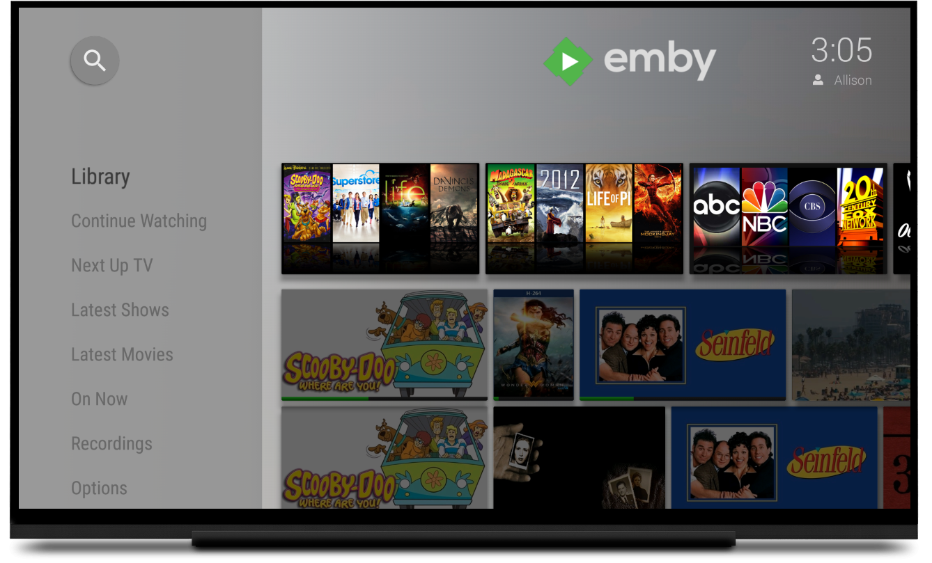 Emby for Android TV and Fire TV now with Themes and multi-version