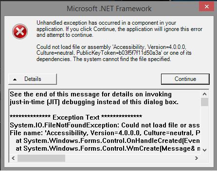 Microsoft .NET Framework error on Server start - General/Windows ...