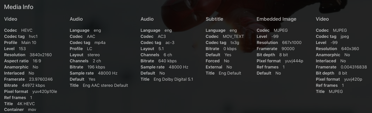 HDR lost on MKV --> M4V Direct Stream - Apple TV - Emby Community