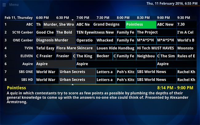 How do I update Channel Guide from XLTV file on a schedule