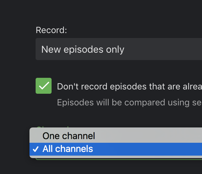 Series recordings are using channel number instead of id