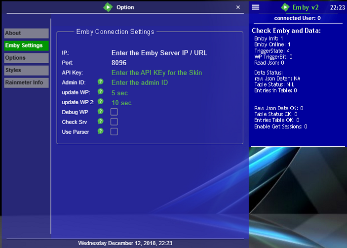Emby Rainmeter Skin - Tools and Utilities - Emby Community