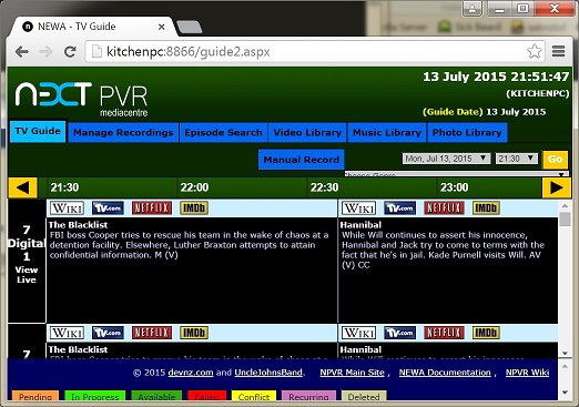 Can't connect to NextPVR - Status: Unavailable - NextPVR