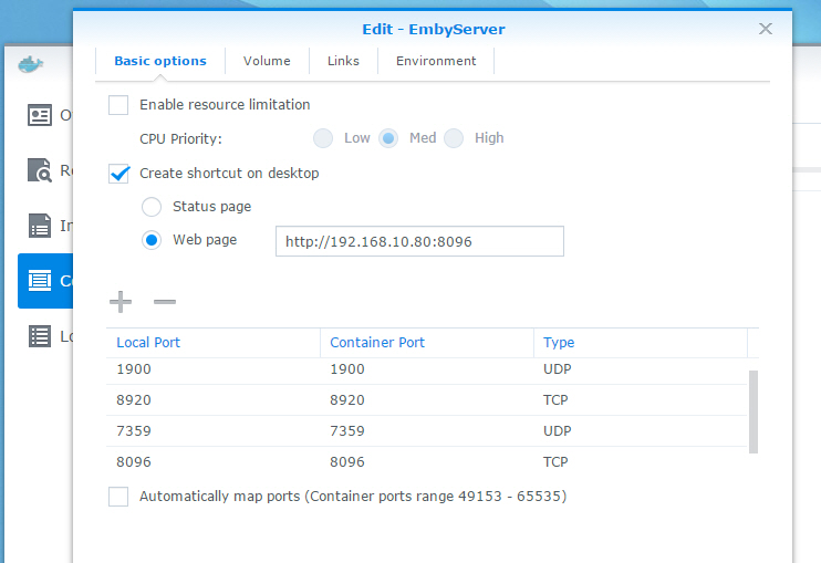 Docker for High Spec Synology - Synology - Emby Community
