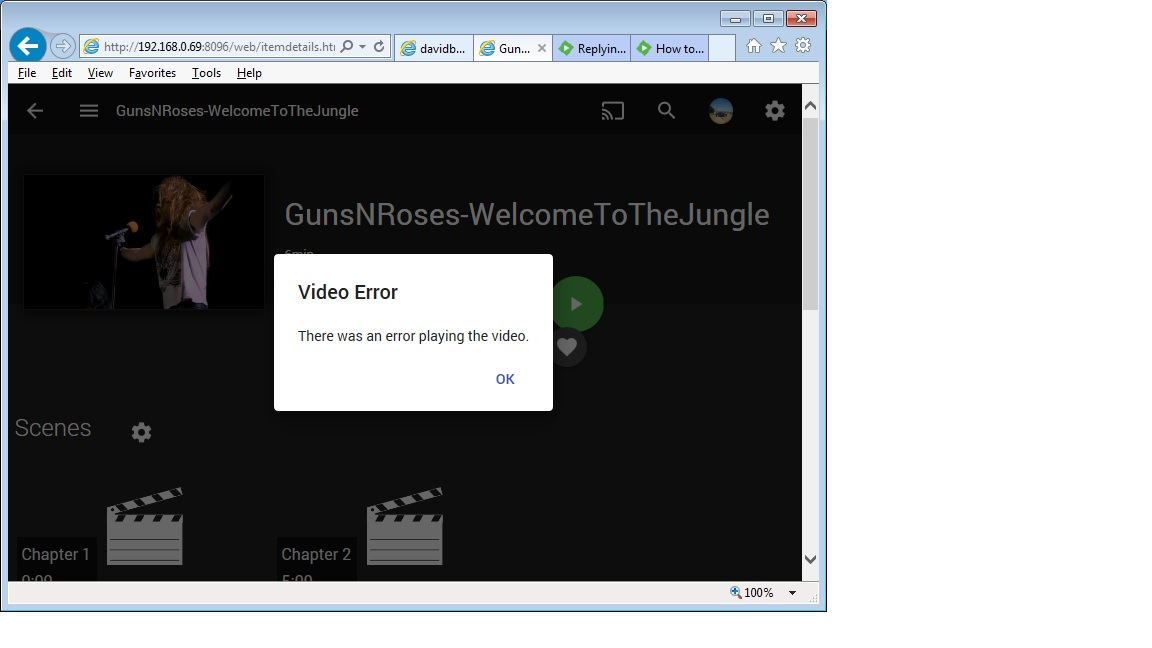 playback not working in Firefox/Waterfox - Web App - Emby