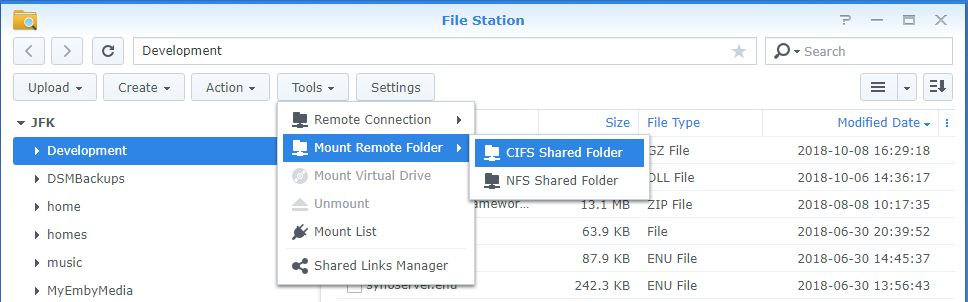 Access SMB share and add it to a library - Synology - Emby